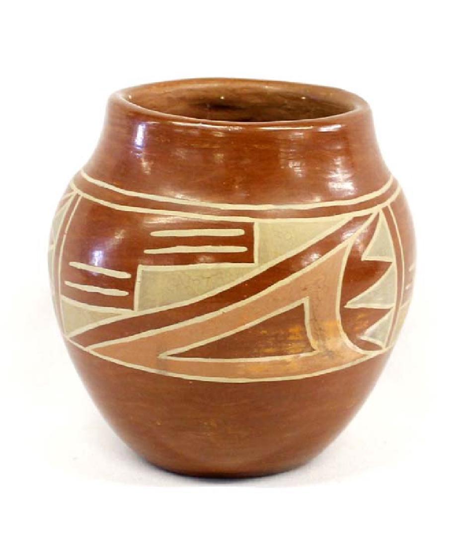 Vintage Native American Santa Clara Polychrome Jar