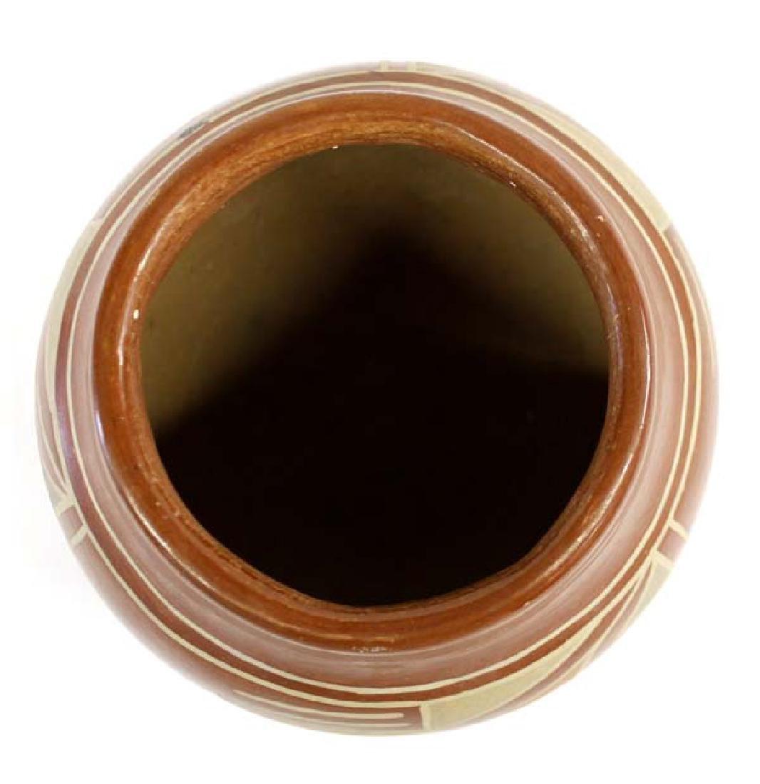 Vintage Native American Santa Clara Polychrome Jar - 2