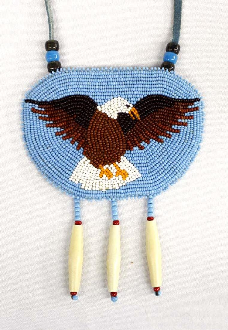 1980 Sioux Beaded Eagle Necklace by Jean Schmidt