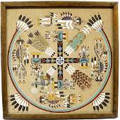 Navajo Sand Painting by Rosabelle Ben