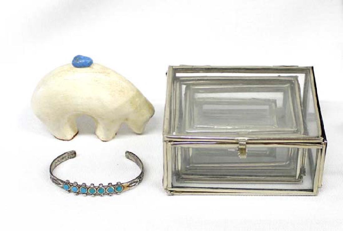 Graduated Glass Boxes, Bear, Route 66 Bracelet