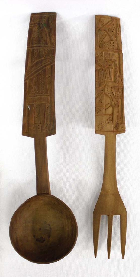 Peruvian Carved Hardwood Serving Set