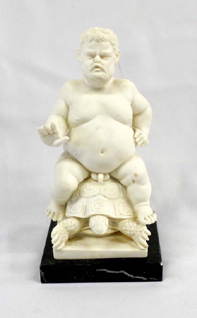 Bacchus Statue Riding a Turtle