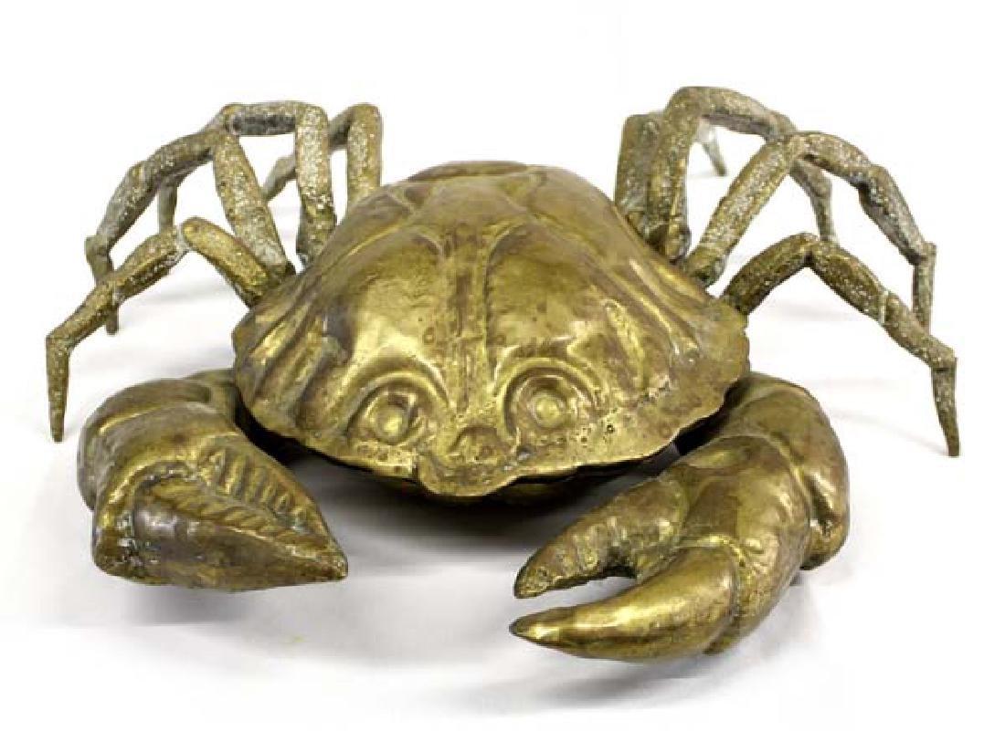 Large Hinged Brass Crab