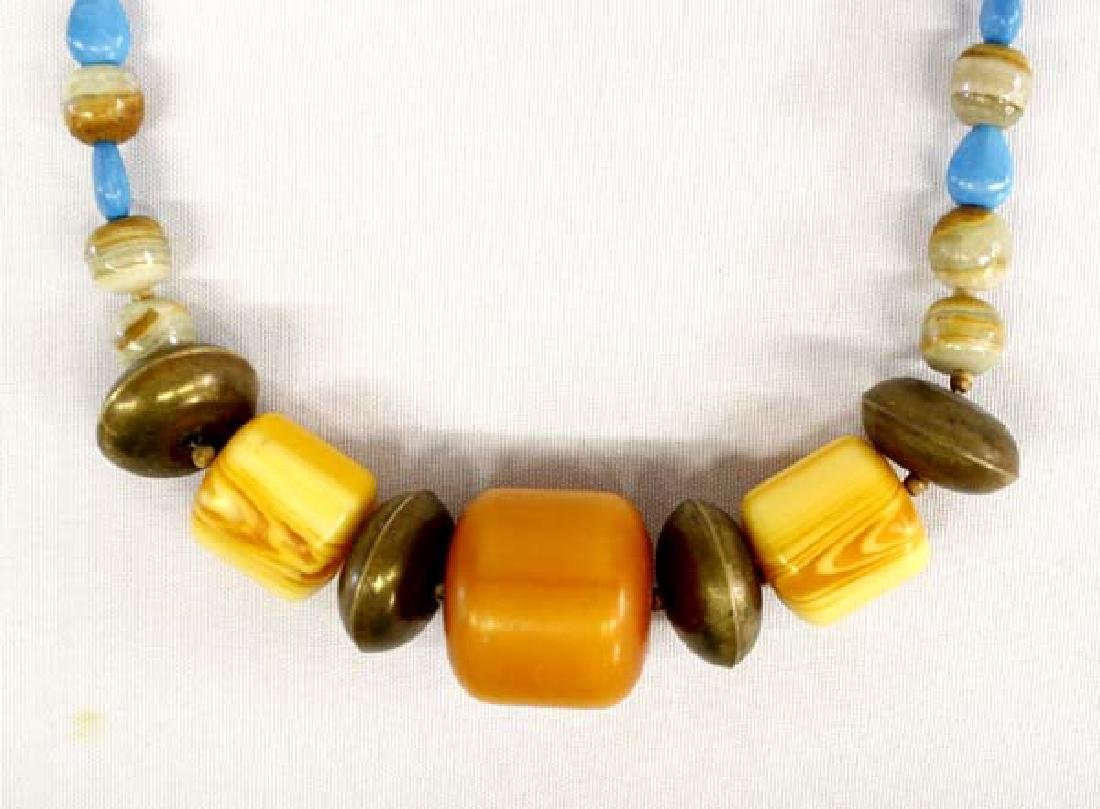 African Amber Bead Necklace