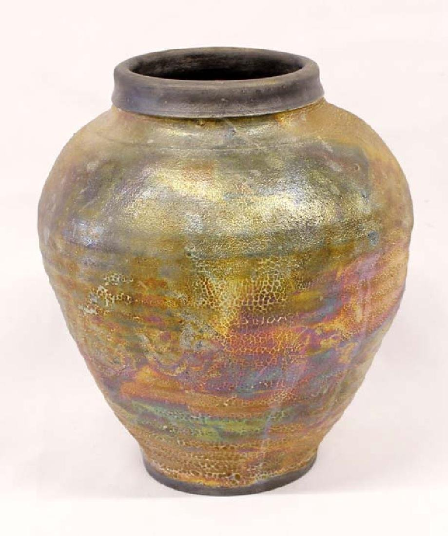 Beautiful Raku Vase by William Burke