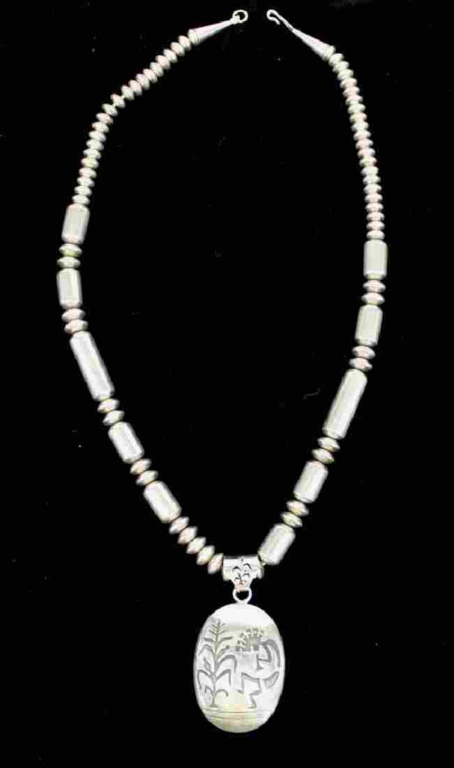 Native American Navajo Sterling Silver Necklace