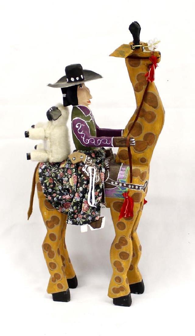 Large Navajo Folk Art Giraffe by Delbert Buck