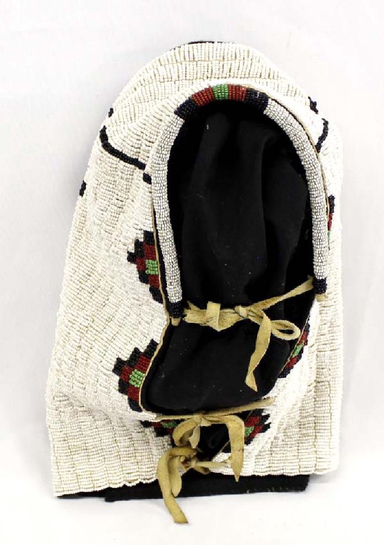 Native American Cree Beaded Moss Bag