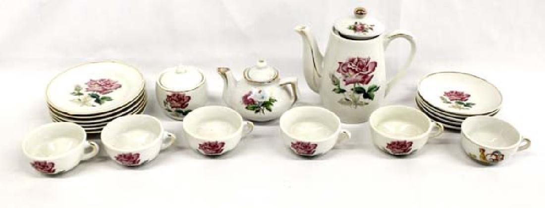 Estate Japanese Set of Porcelain Child's Dishes