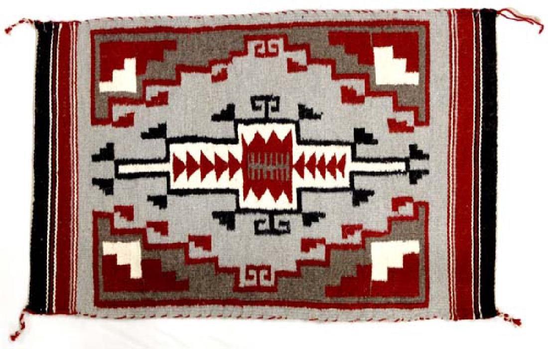Navajo Ganado Red Wool Textile Rug