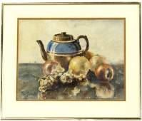 Original Watercolor Still Life Painting, Simboli