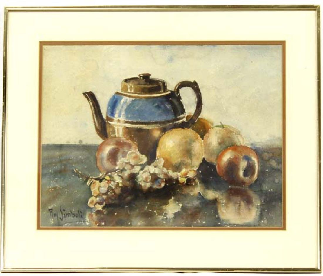 Original Watercolor Still Life Painting, Simboli