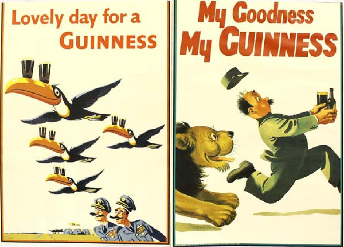 2 Vintage Guinness Beer Posters By John Gilroy