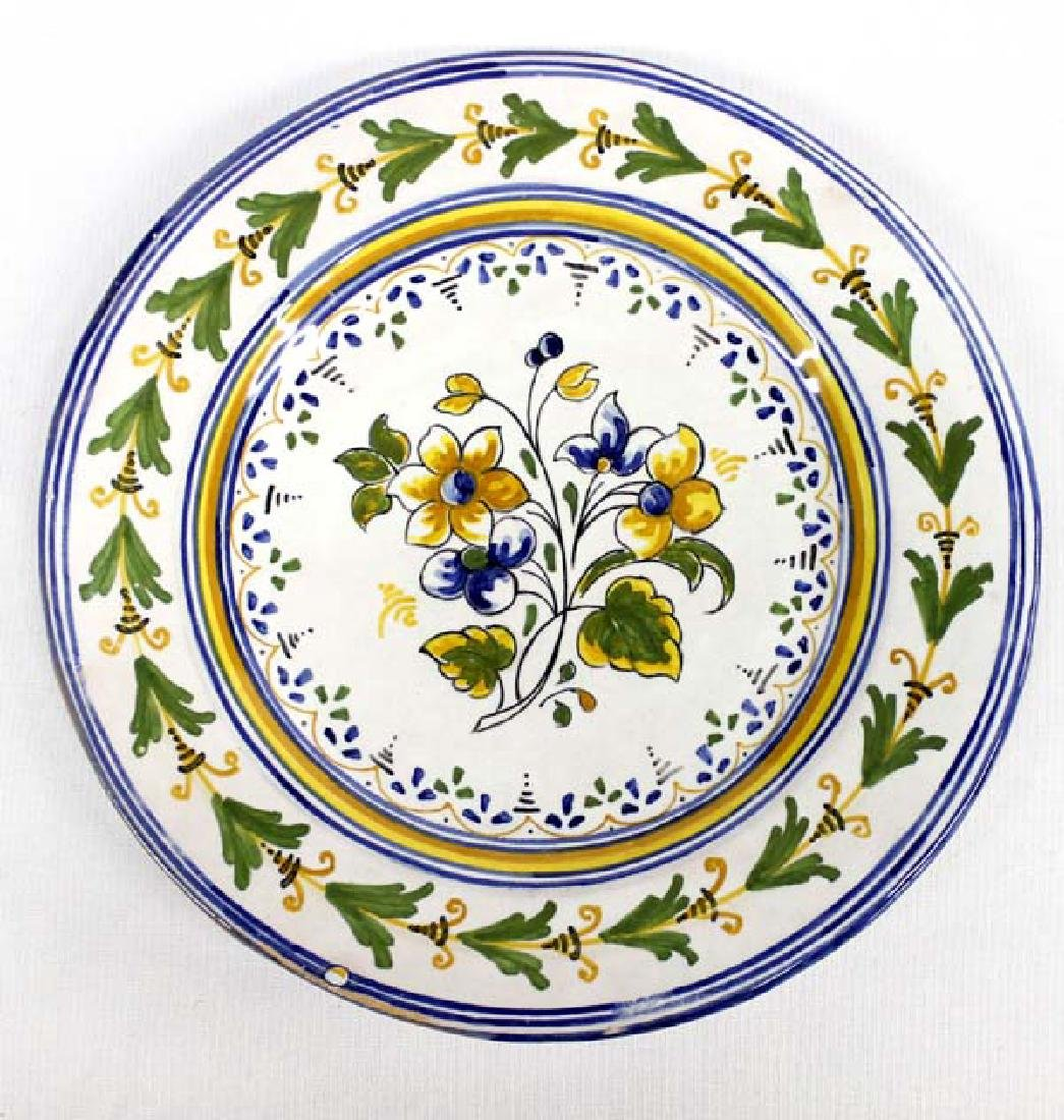 Hand Painted Italian Pottery Plate