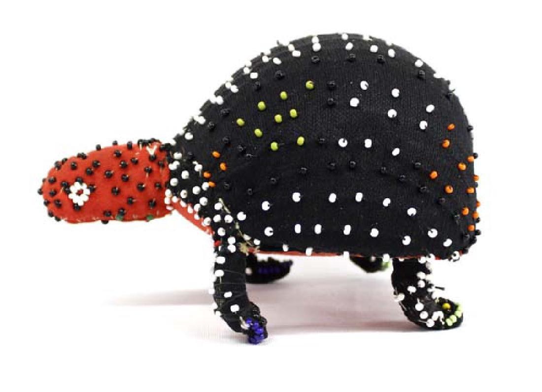 Guatemalan Folk Art Cloth and Bead Turtle