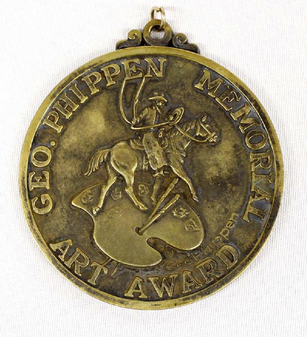 1976 Brass George Phippen Art Award Medallion