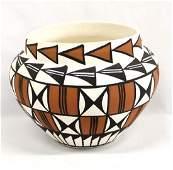 Native American Acoma Pottery Jar by L. Chino