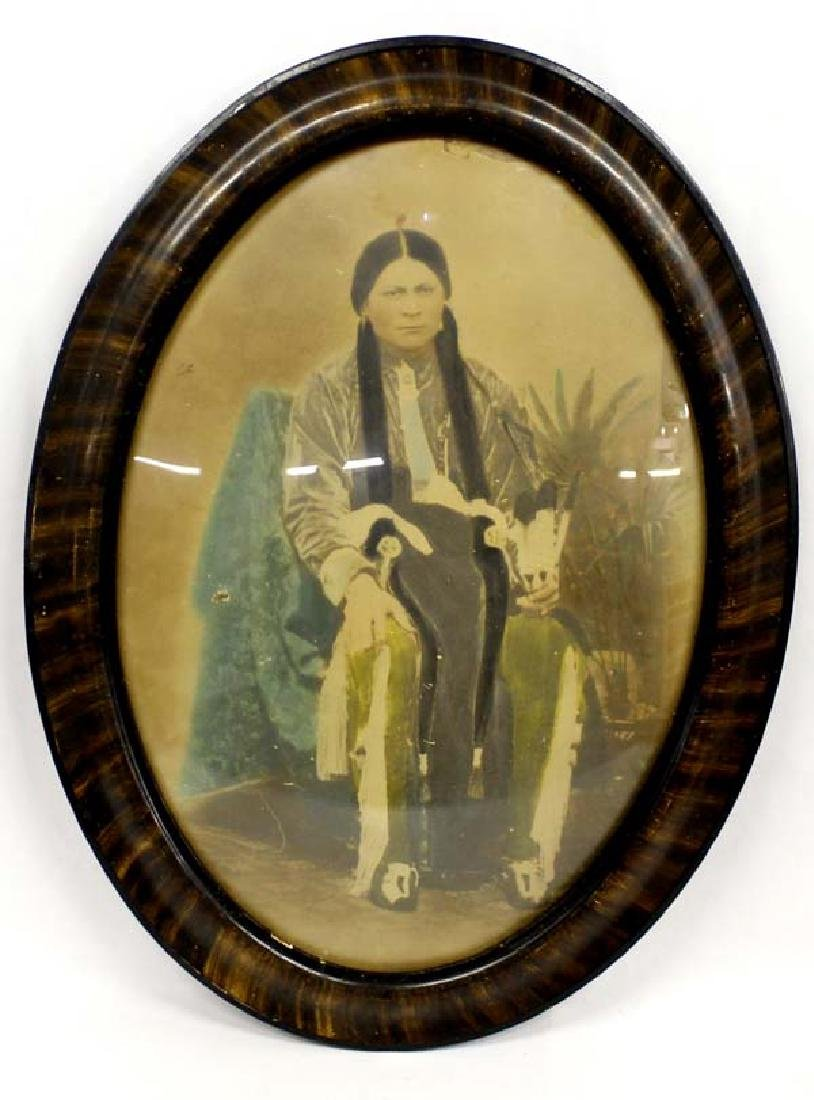 Antique Hand Painted Colored Photograph
