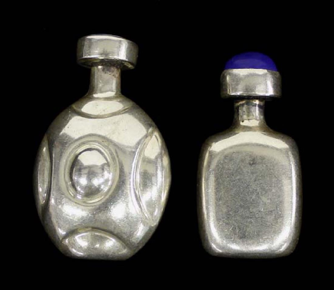2 Sterling Silver Taxco Perfume Bottles