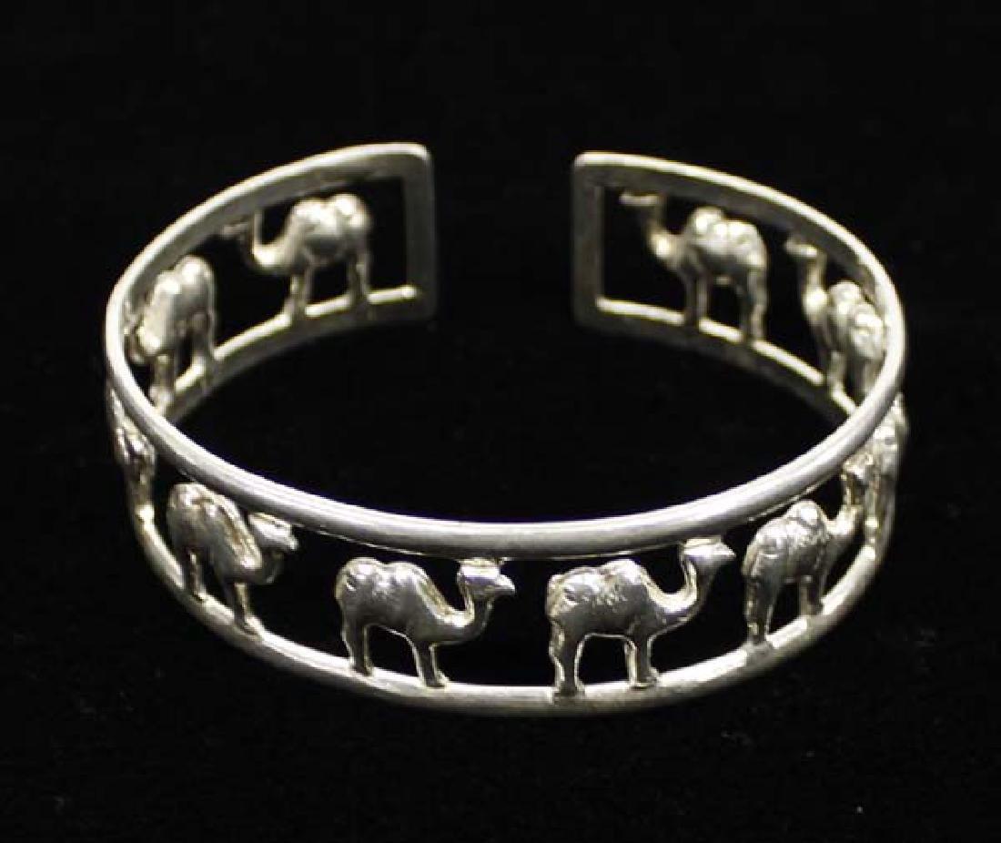 Large Sterling Silver Camel Cuff Bracelet