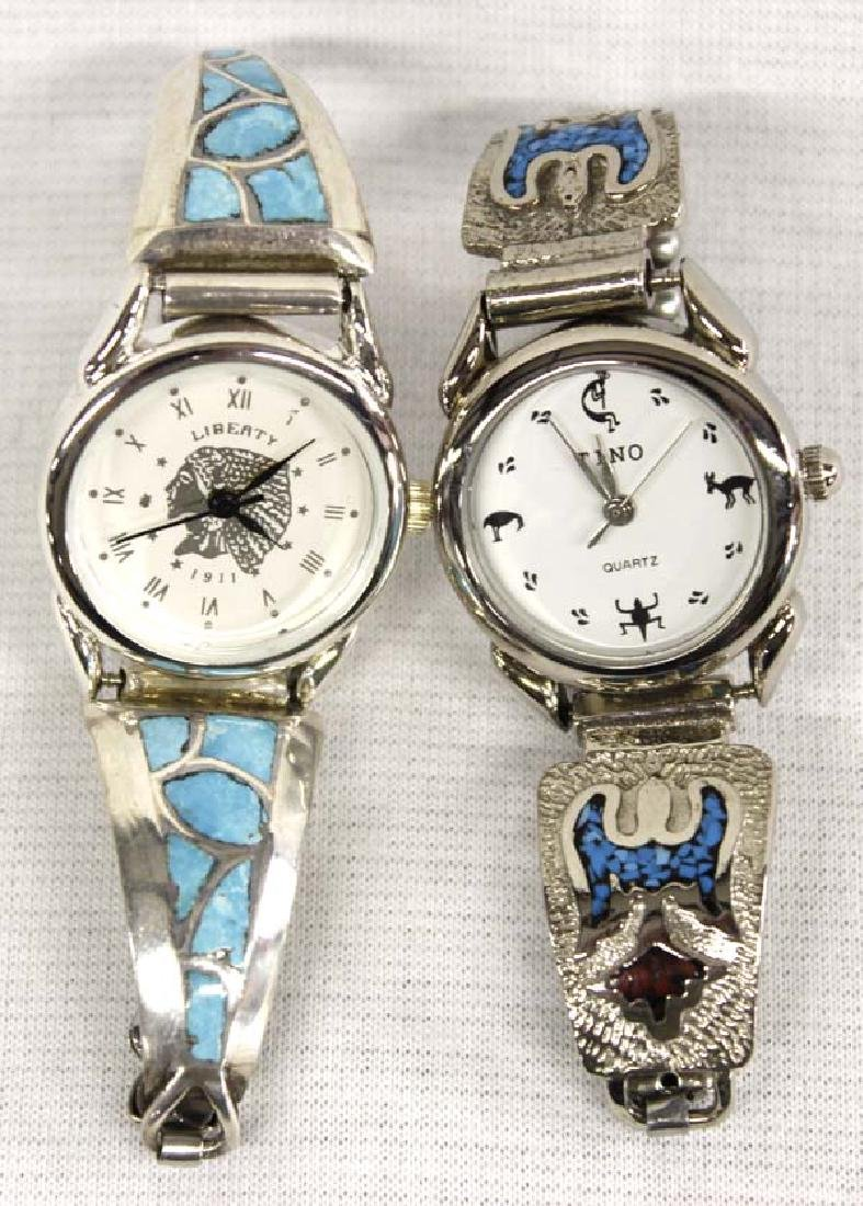 Native American Sterling Turquoise Watch Bands