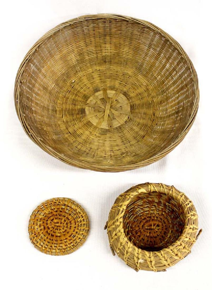 2 Woven Baskets, 1 is Native American