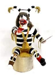 Navajo Carved Koshare Clown Kachina by Etsitty