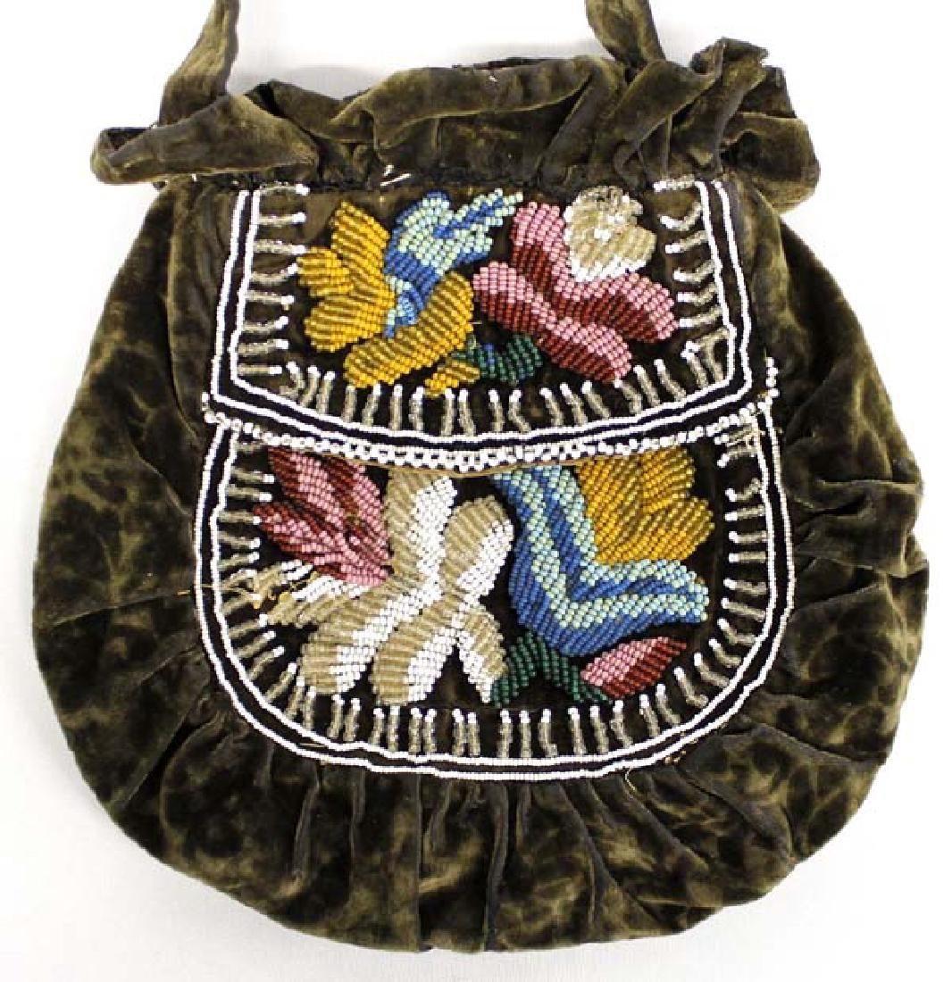 Antique Native American Iroquois Beaded Bag