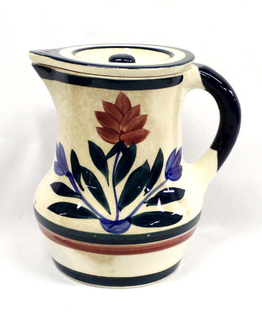 Japanese Covered Ceramic Pitcher