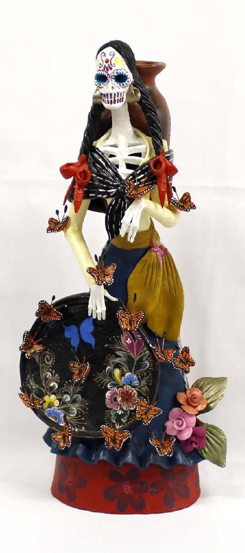 Stunning Pottery Day of the Dead Catrina Statue