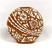 Native American Acoma Pottery Pillow Jar by