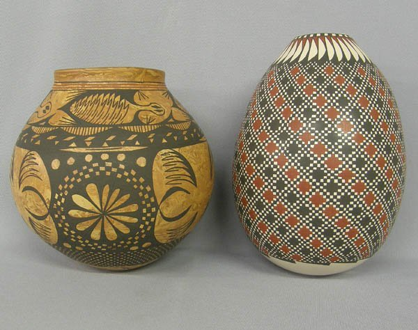 1001: 2 Mata Ortiz Pottery Signed Gaona & Enriquez