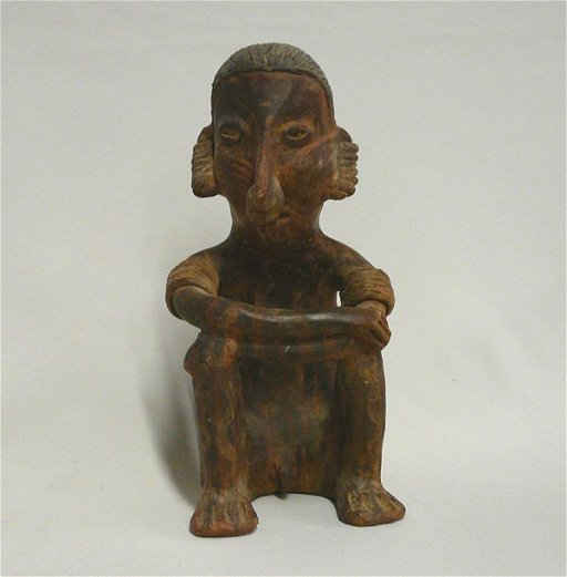 1003: Pre Columbian Man Idol Pottery Reproduction