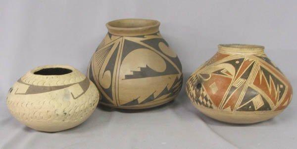 1005: 3 Casas Grande Pottery Jars 1970s