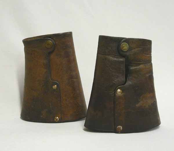 1007: Pair Of Vintage Cowboy Leather Cuffs