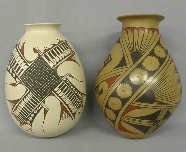 1010: 2 Mata Ortiz Pottery Signed Gaona & Bugarini