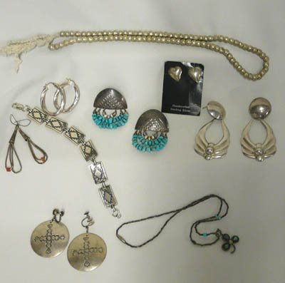 1011: 9 Pieces of Silver Jewelry Some Sterling