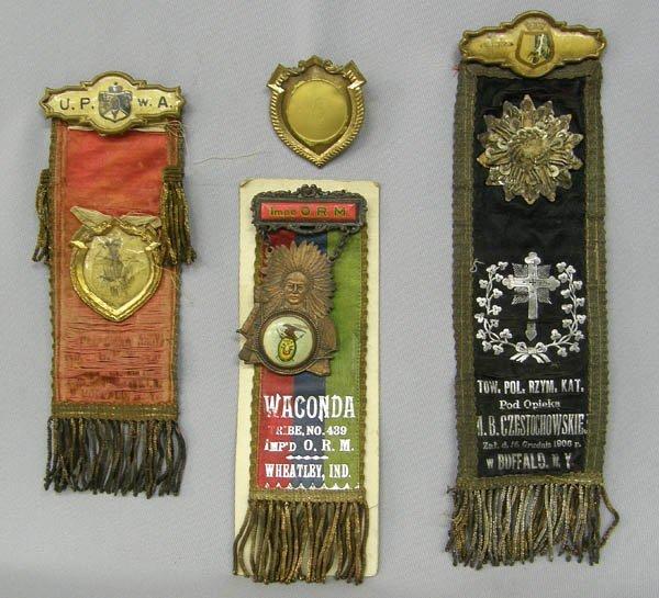 1013: 3 Vintage Religious Fraternal Organization Medals