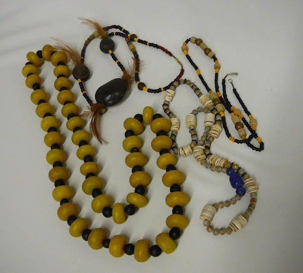 1022: 4 Ethnic  Beaded Necklaces