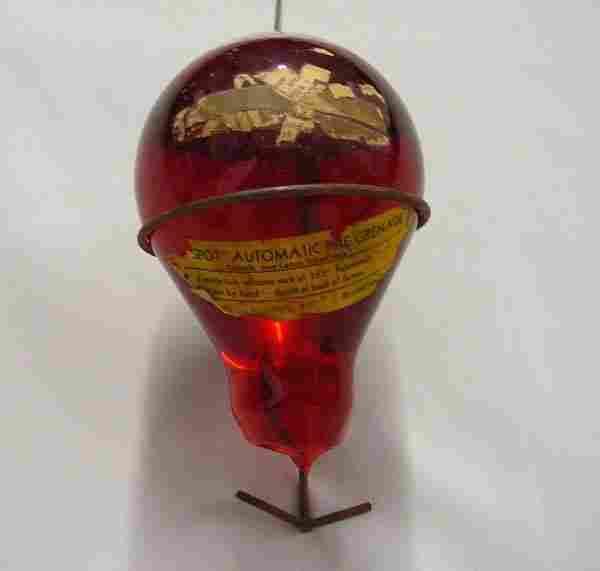 Antique Spot Automatic Glass Fire Grenade