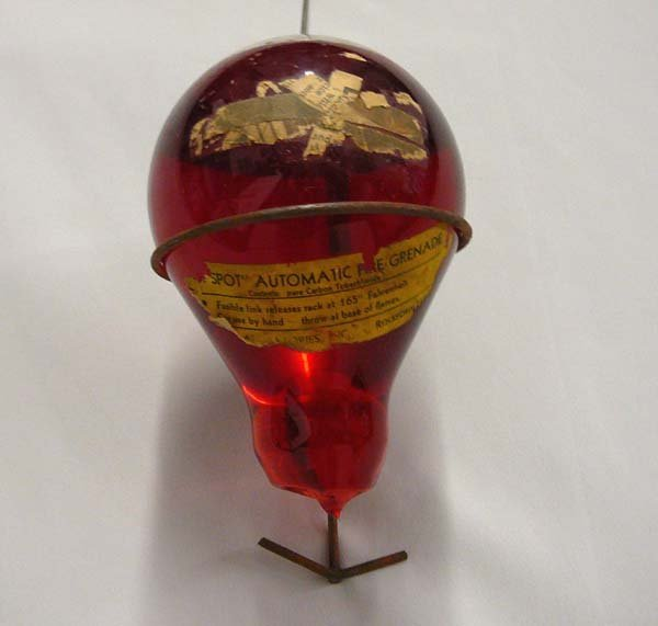 1062: Antique Spot Automatic Glass Fire Grenade