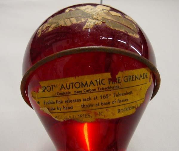 1062: Antique Spot Automatic Glass Fire Grenade - 2