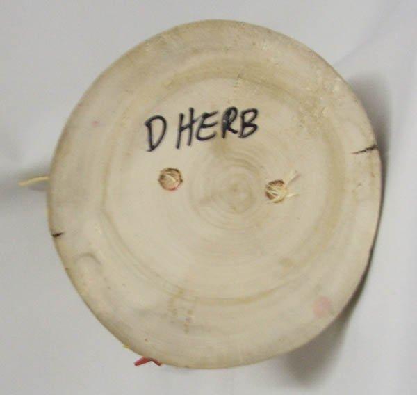 1505: Navajo Folk Art Wood Chicken Signed D Herb - 4