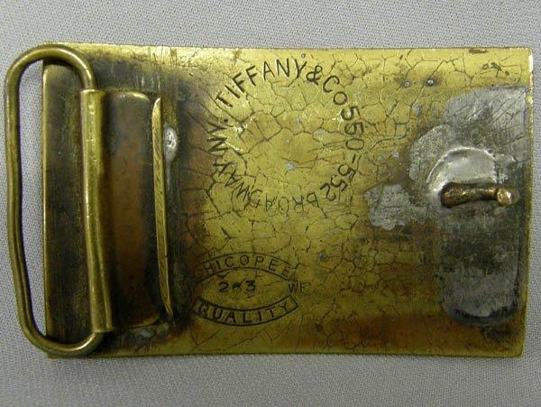 1579: Tiffany Brass Wells Fargo Belt Buckle - 2