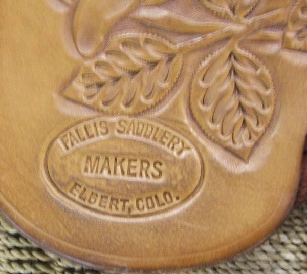 1612: 1970s Fallis Hand Tooled Leather Western Saddle - 4