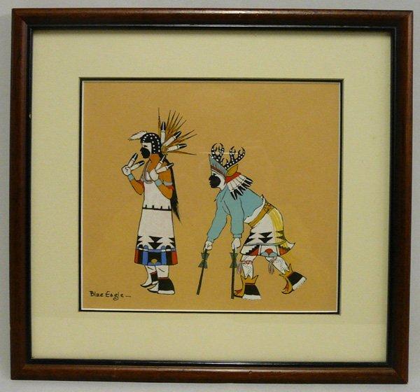 1720: Original Framed Acee Blue Eagle Painting