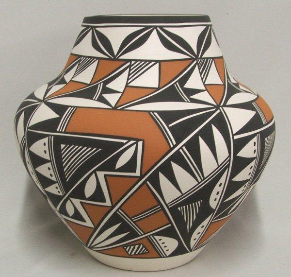 1159: Large Polychrome Acoma Olla By Loretta Joe 13x14'