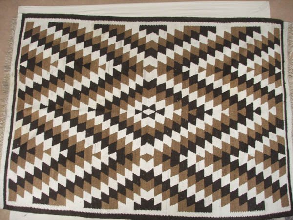 1501: Kilim Rug 6' x 9' Needs Cleaning, Some Stains