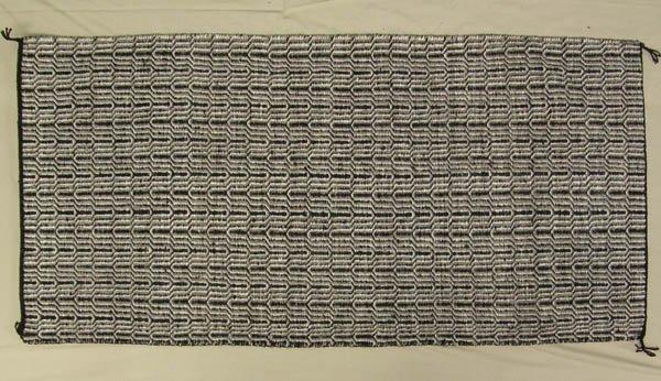 1502: Navajo Handspun Wool Saddle Blanket 60x29''
